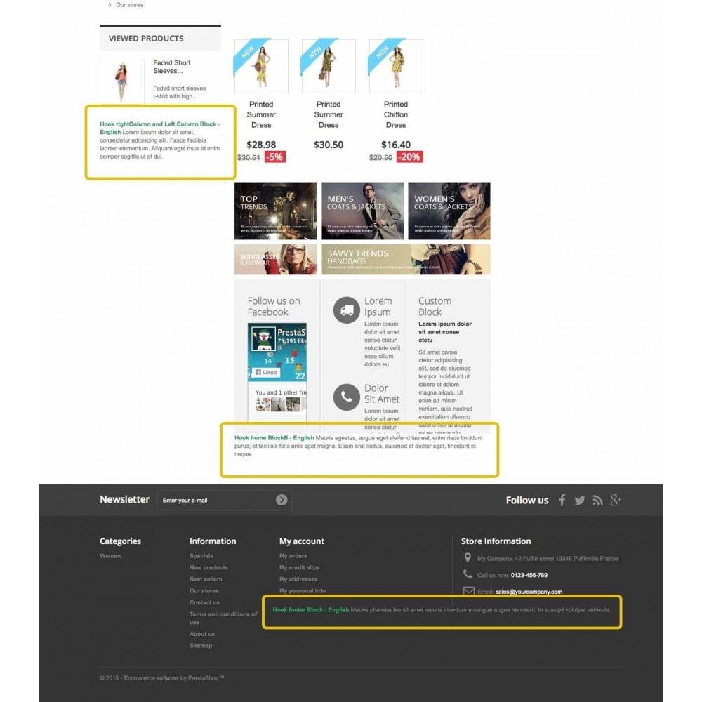 module - Blocks, Tabs & Banners - Static, Custom, HTML, Text, Multi blocks - 3