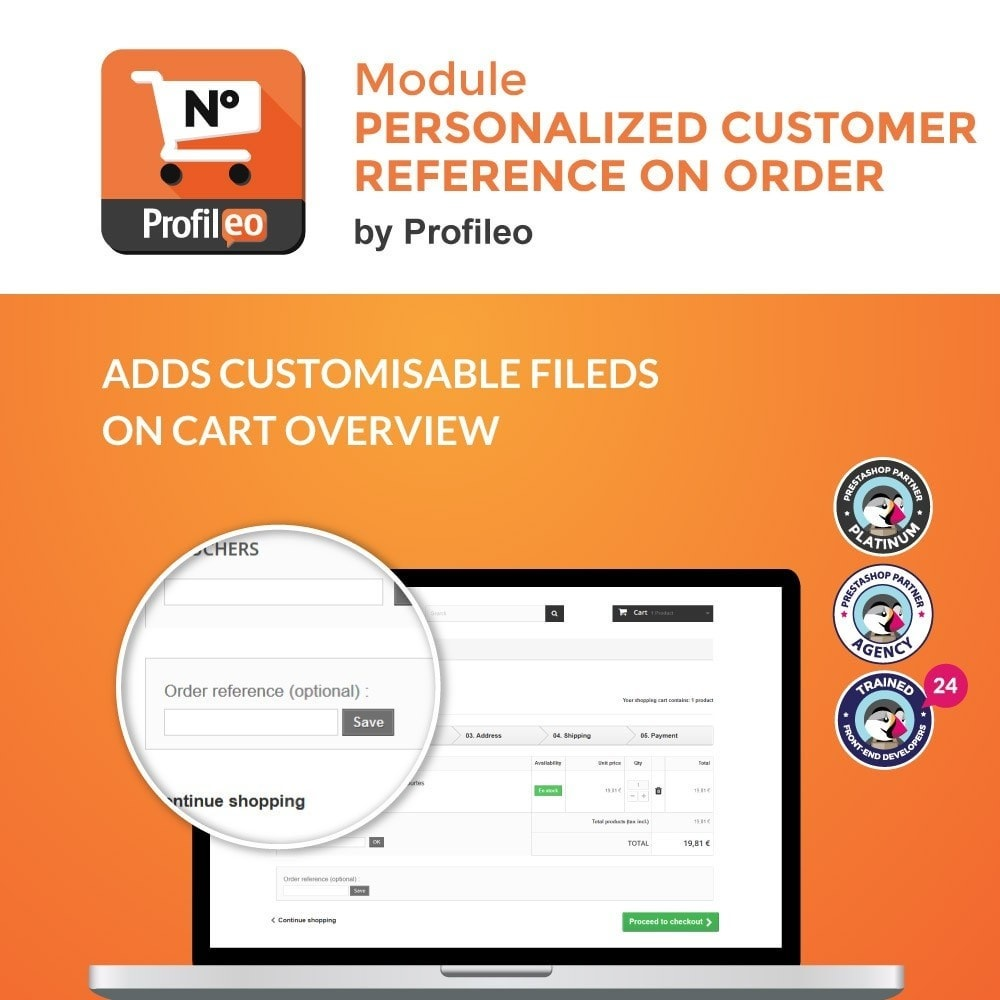 module - Order Management - Personalized customer reference on order - 1