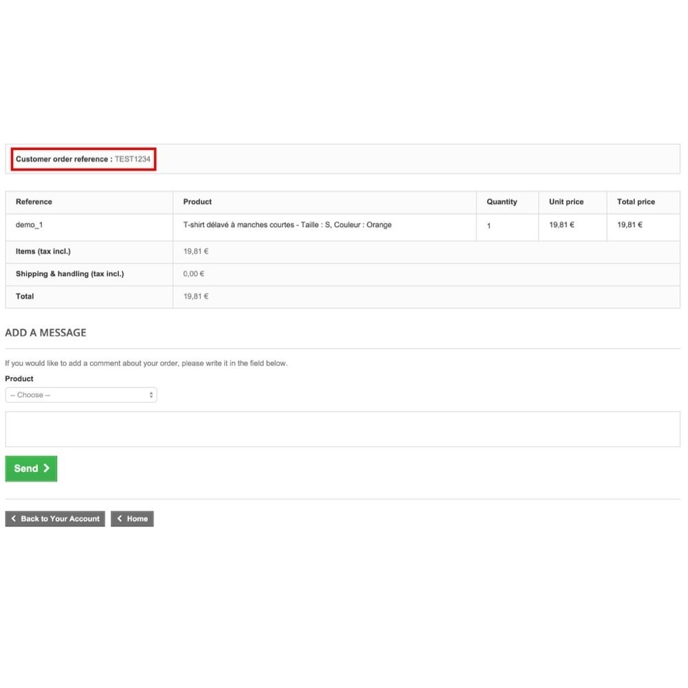 module - Order Management - Personalized customer reference on order - 4