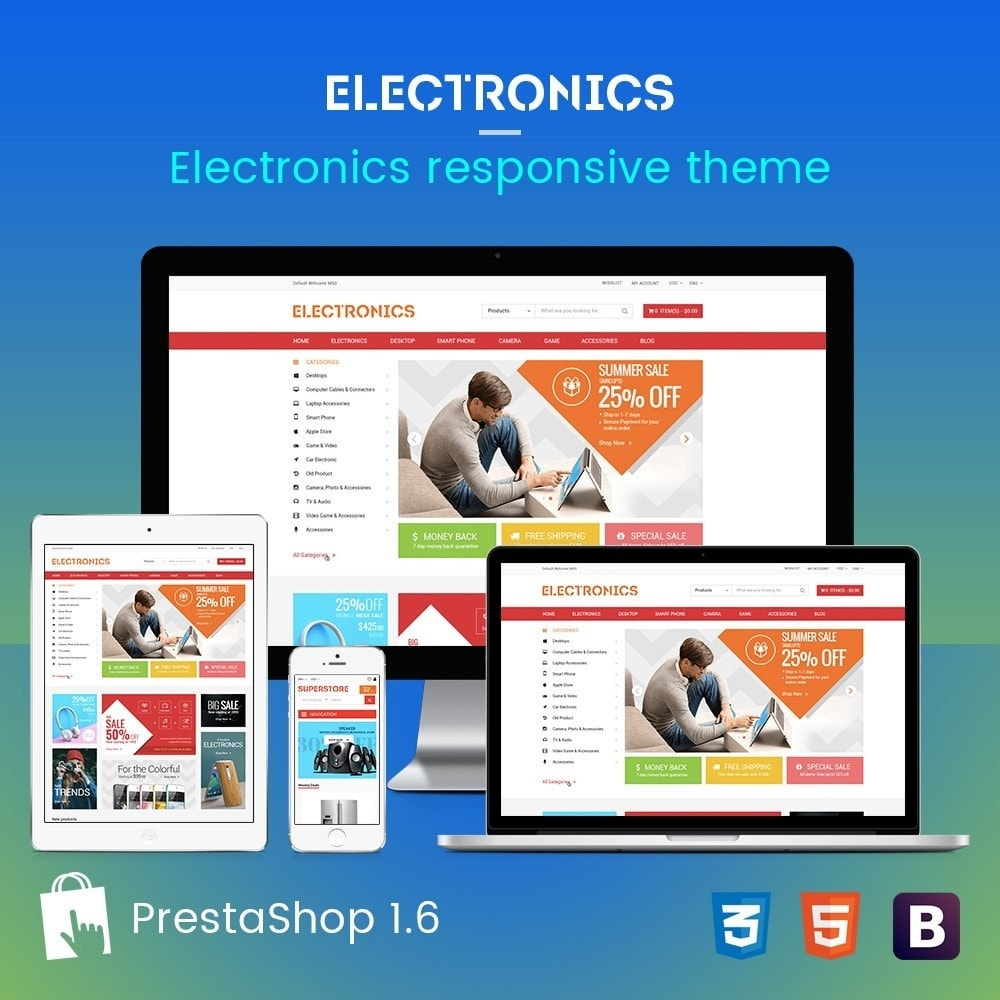 theme - Electrónica e High Tech - Appliances & Electronics Responsive  Store - 1