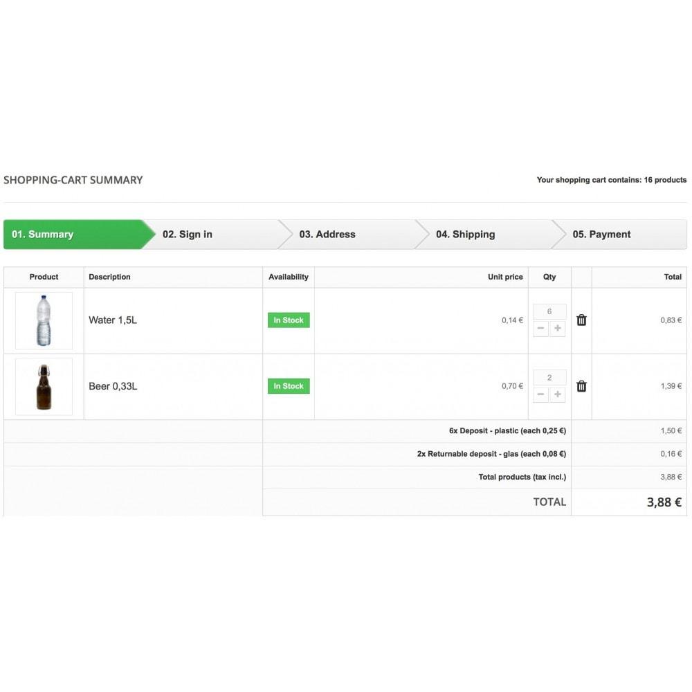 module - Information supplémentaire & Onglet produit - Deposit manager - 2