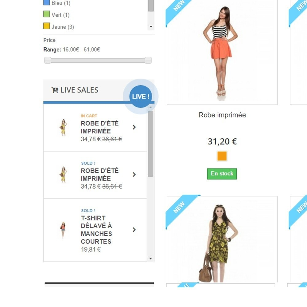 module - Cross-Selling & Produktbundles - Live cart and sales - 2
