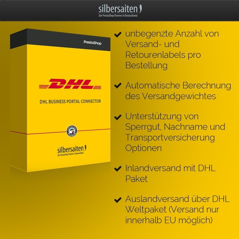 module - Shipping Carriers - DHL Business Portal Connector - 2