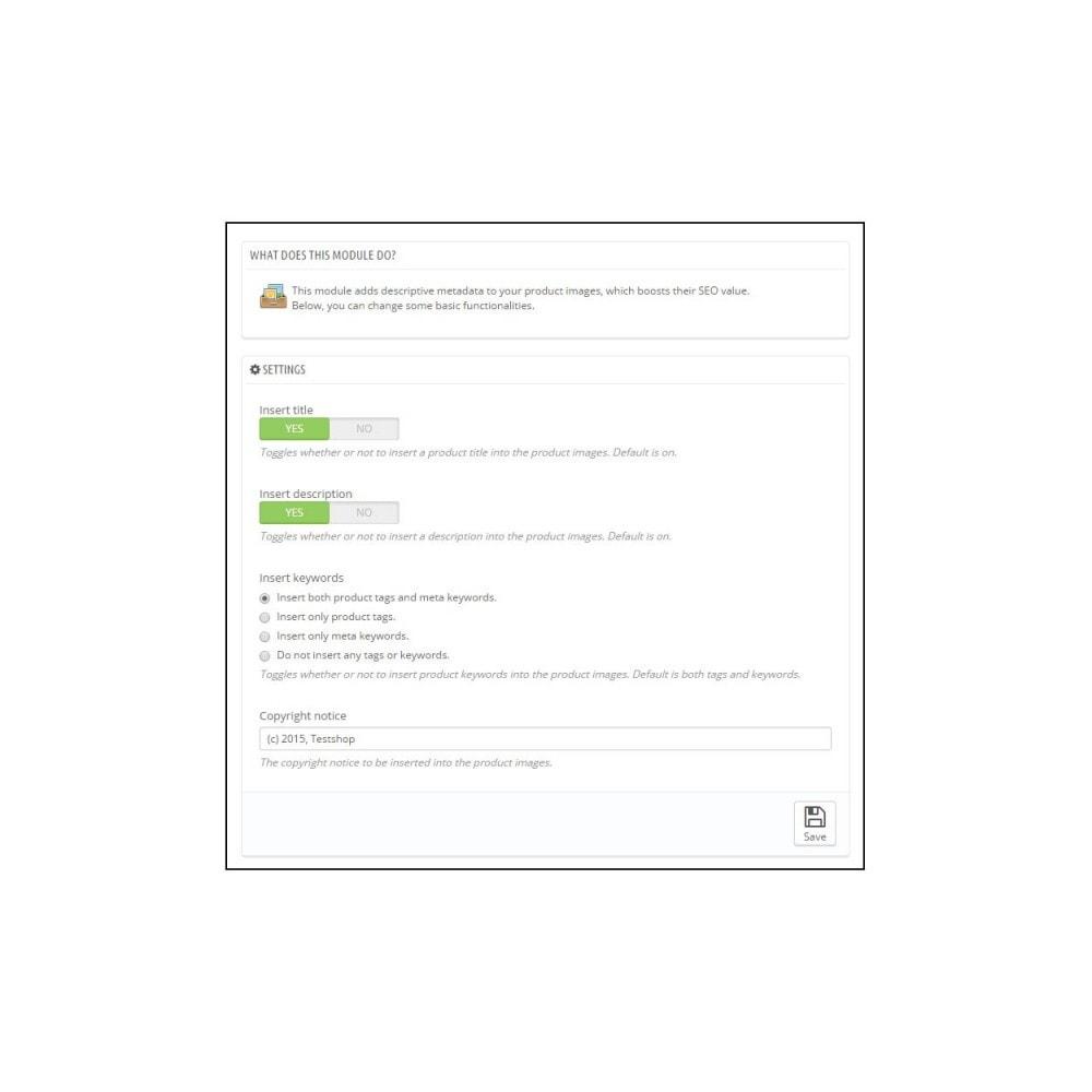 module - SEO (Pozycjonowanie naturalne) - Image Metadata - 2