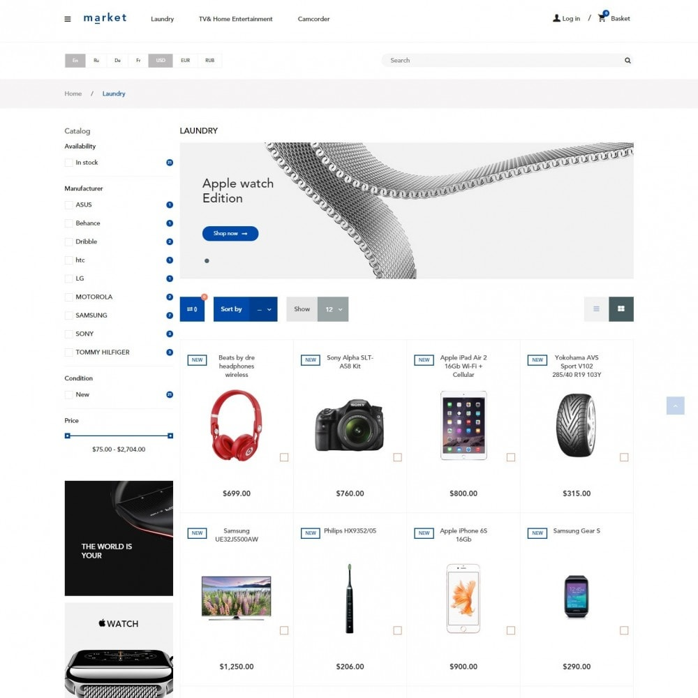 theme - Electronique & High Tech - SuperMarché Boutique - 3