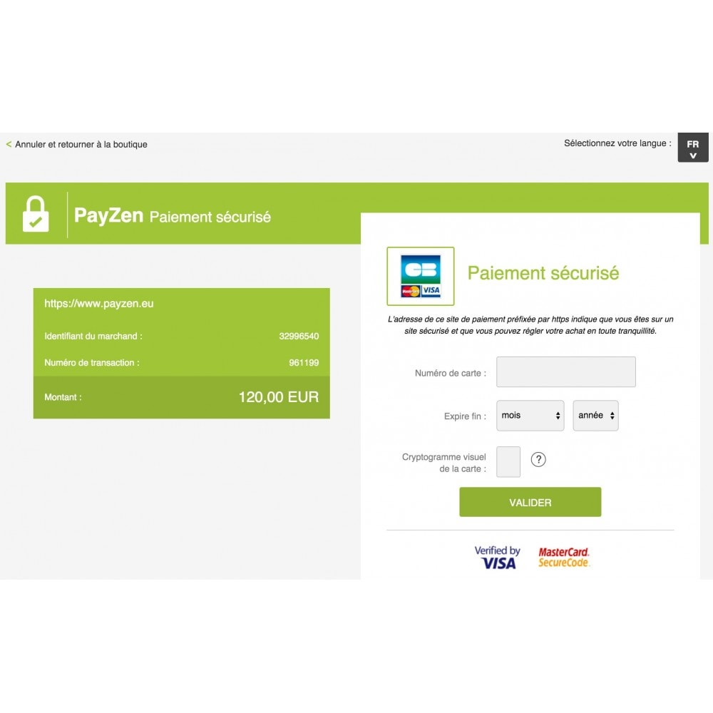 module - Paiement par Carte ou Wallet - Passerelle de Paiement PayZen SystemPay & SogeCommerce - 3