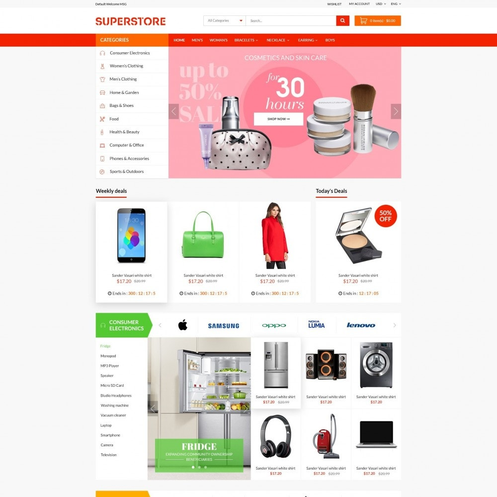 Supermarket - Appliances, Electronics & Fashion Store