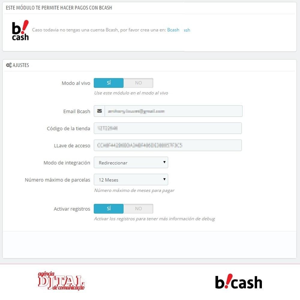 module - Pago con Tarjeta o Carteras digitales - Bcash Integrado - 2