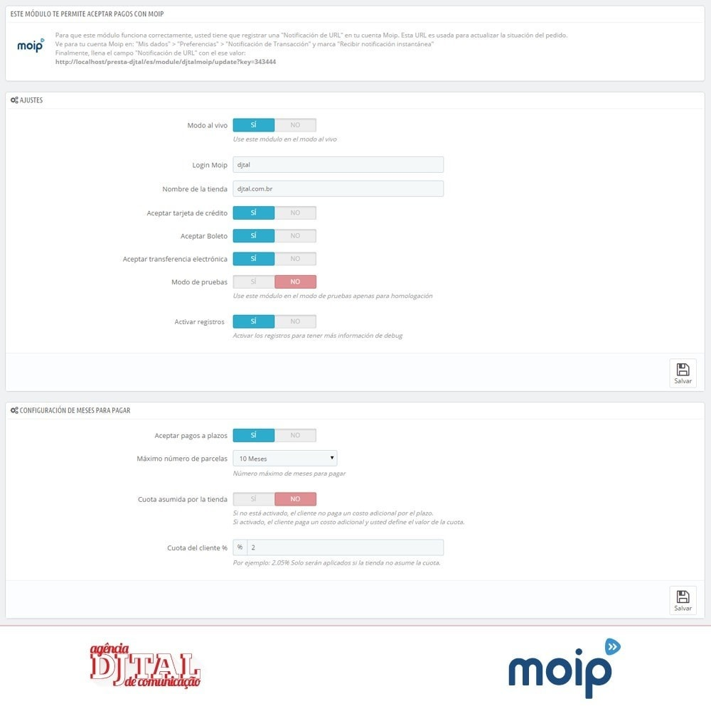 module - Pago con Tarjeta o Carteras digitales - Moip checkout - 2