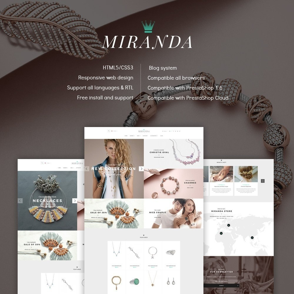 theme - Jewelry & Accessories - Water Jewelry Shop - 1