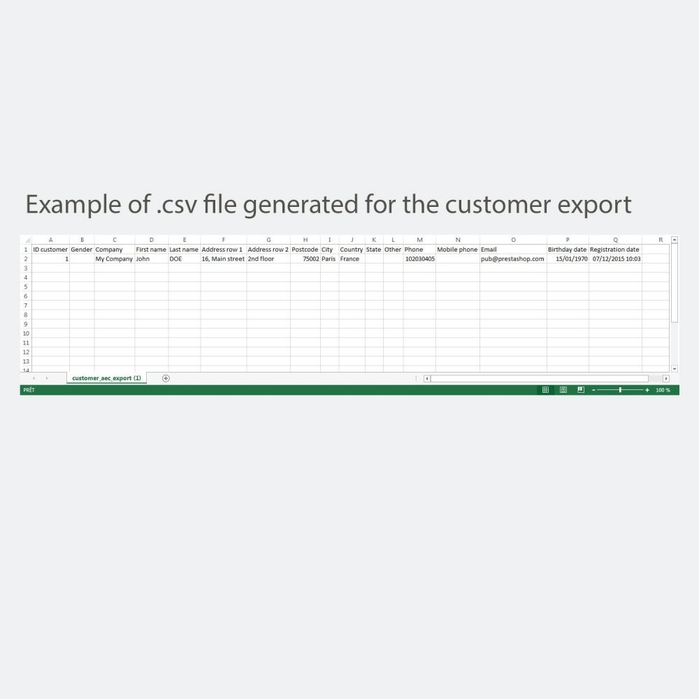 module - Importeren en Exporteren van data - Simple and secure customer / order export - 6