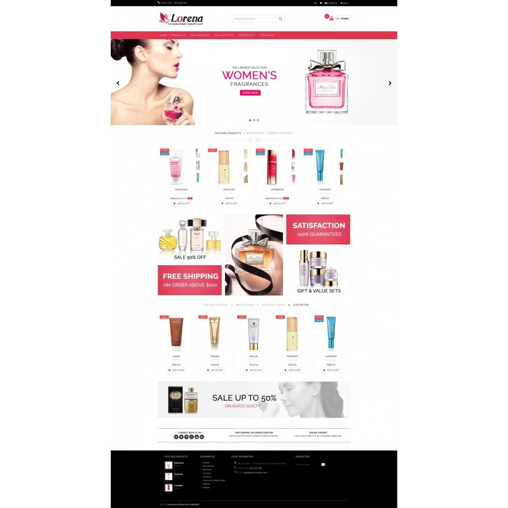 Lorena Cosmetic Shop HTML5