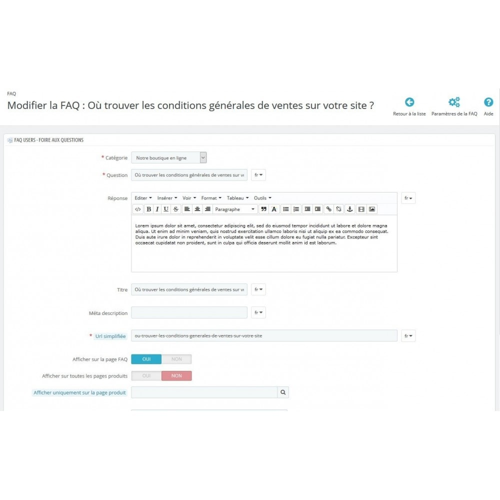 module - FAQ (questions fréquentes) - FAQ Users - Foire aux Questions - 6