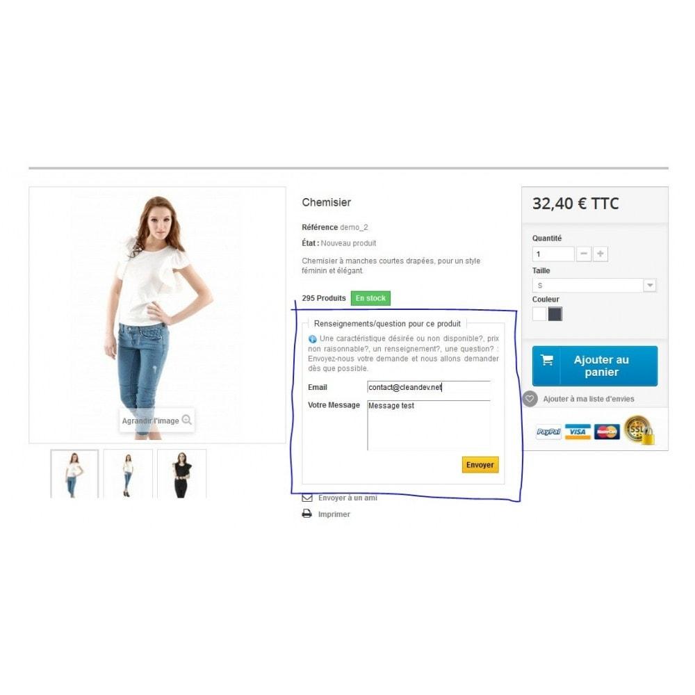 module - Formulaires de Contact & Sondages - Renseignements sur un produit avant achat - 4