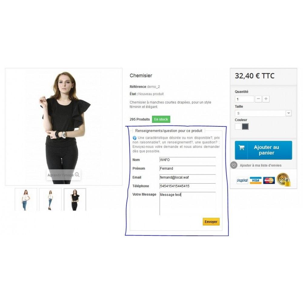 module - Formulaires de Contact & Sondages - Renseignements sur un produit avant achat - 5
