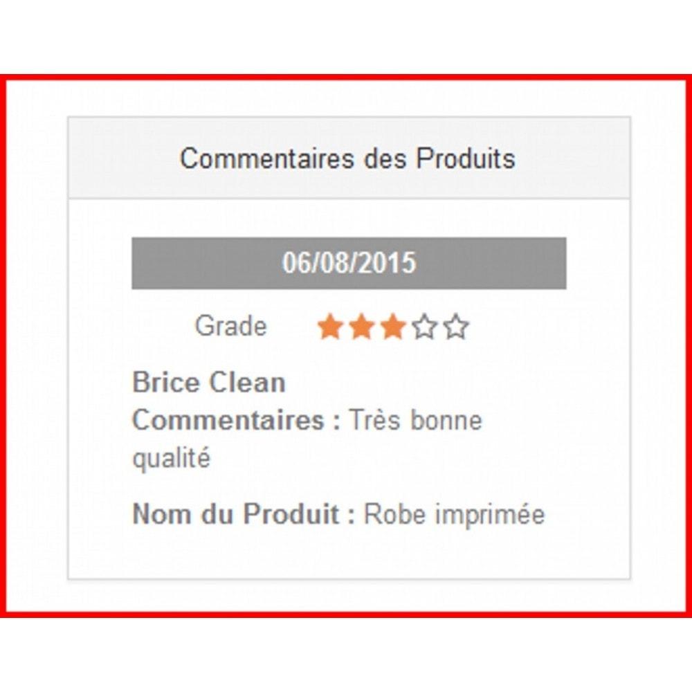 module - Avis clients - Commentaires de produits avancés - 4
