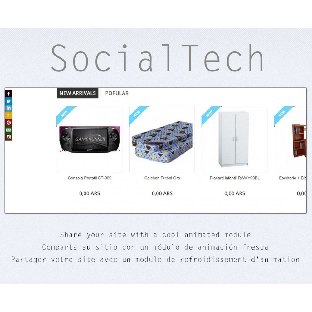 module - Deelknoppen & Commentaren - Social Tech / Share +Whatsapp - 1