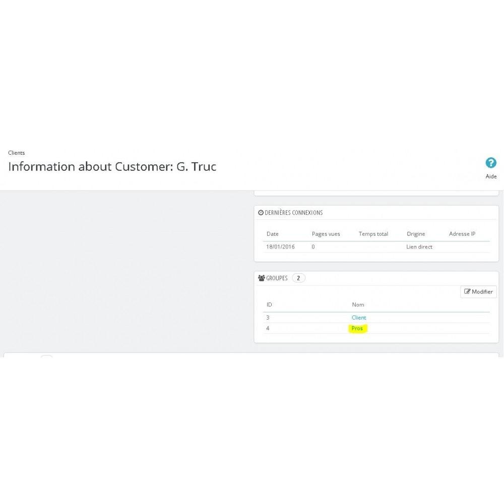 module - Управления учетными записями клиентов - Auto register as pro - 3