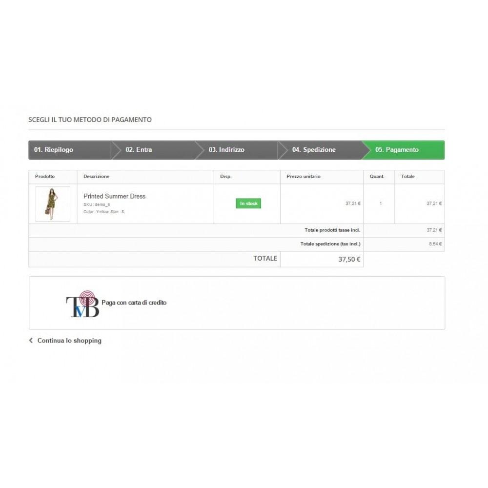 module - Płatność kartą lub Płatność Wallet - Consorzio Triveneto payment gateway - TVB - Advanced - 2