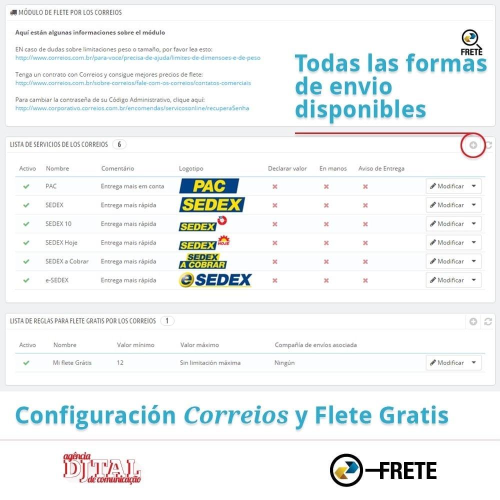 module - Transportistas - Cálculo del flete por los Correios Brasileños - 2