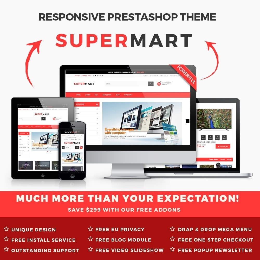 theme - Электроника и компьютеры - Supermart Hightech Responsive - 1