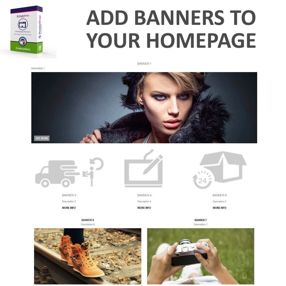 module - Personalisering van pagina's - Homepage Banners - Add Images on your Home Page - 2