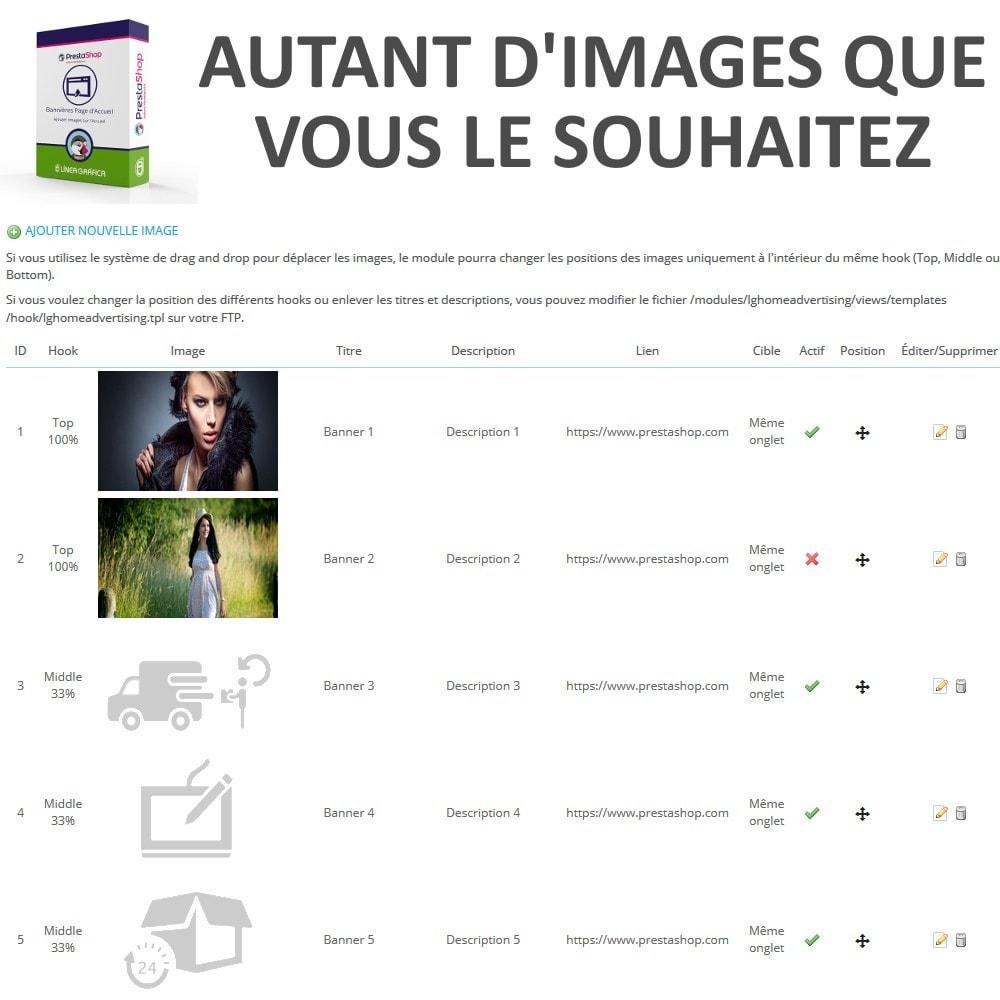 module - Personnalisation de Page - Bannières Page d'Accueil - Ajouter Images sur l'Accueil - 3