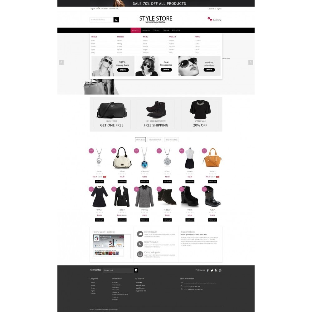 theme - Mode & Schoenen - Style Fashion Store HTML5 - 3
