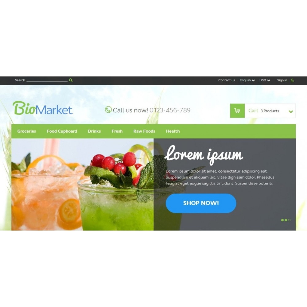 BioMarket 1.6 Responsive
