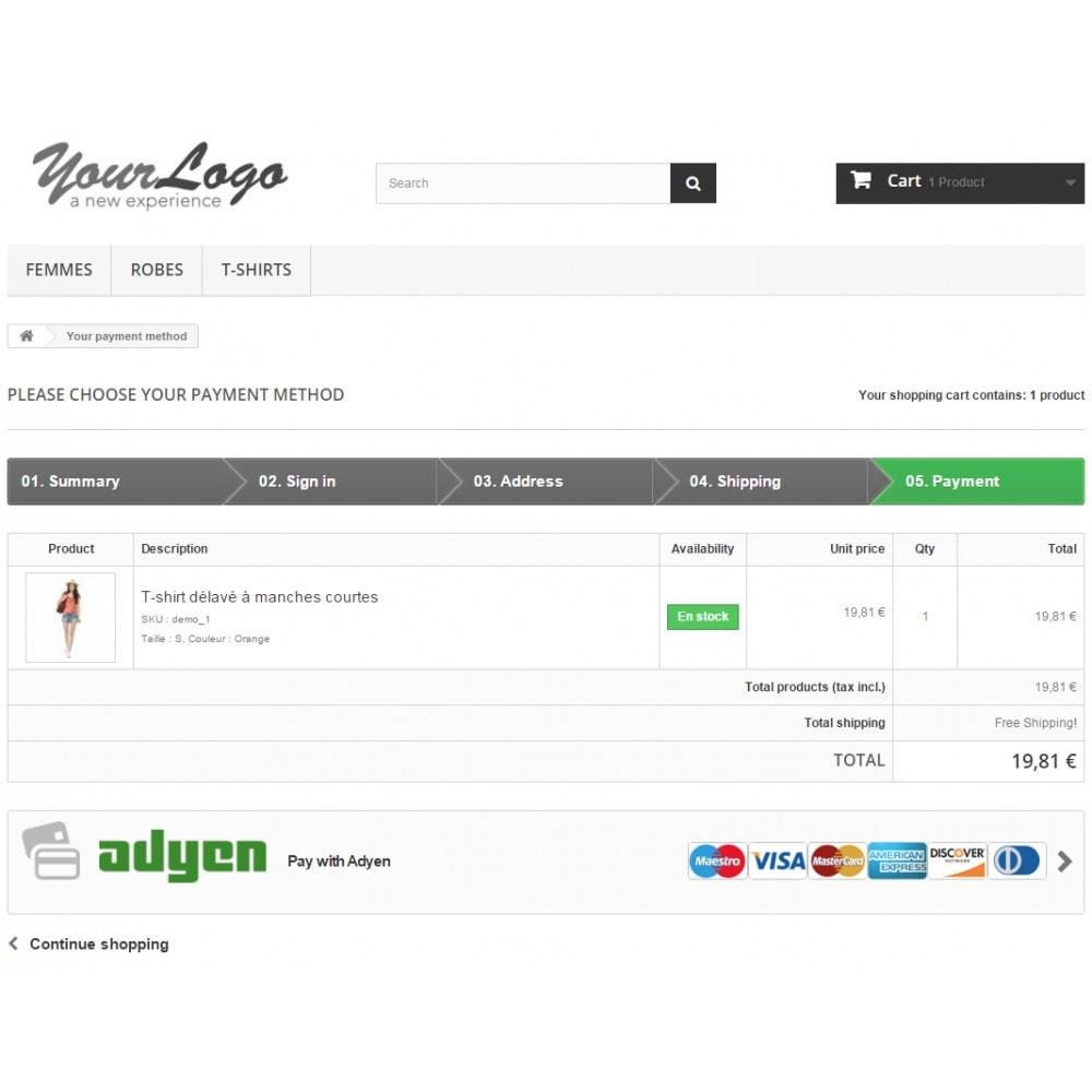 module - Pagamento por cartão ou por carteira - Adyen Payment - 3