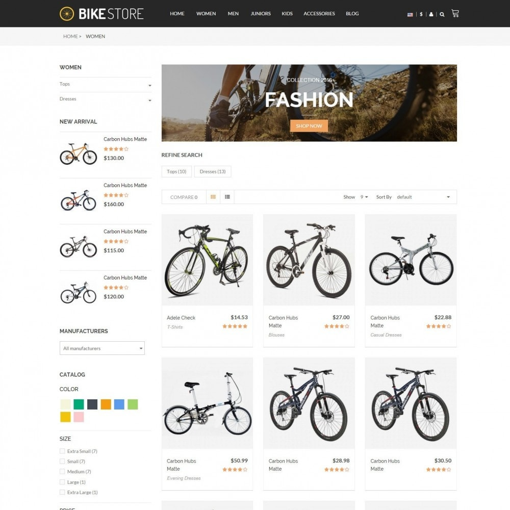 Bikes, Cycling Clothing & Bike Shoes Responsive Store
