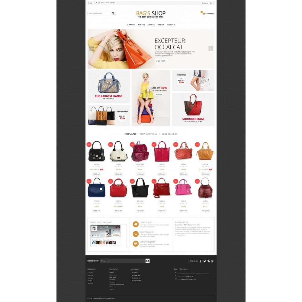 Bags shop Multipurpose HTML5