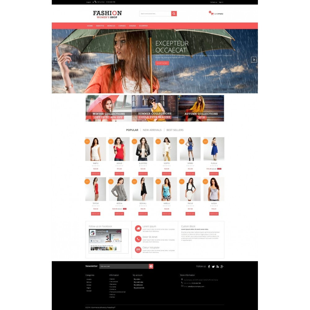theme - Fashion & Shoes - Fashion Multipurpose HTML5 - 2