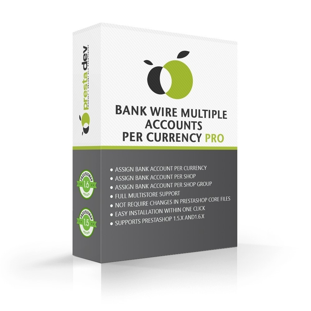 module - Pago por Transferencia - Bank wire multiple accounts per currency Pro - 1