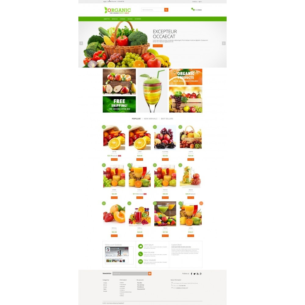 Organic Multishop  HTML5