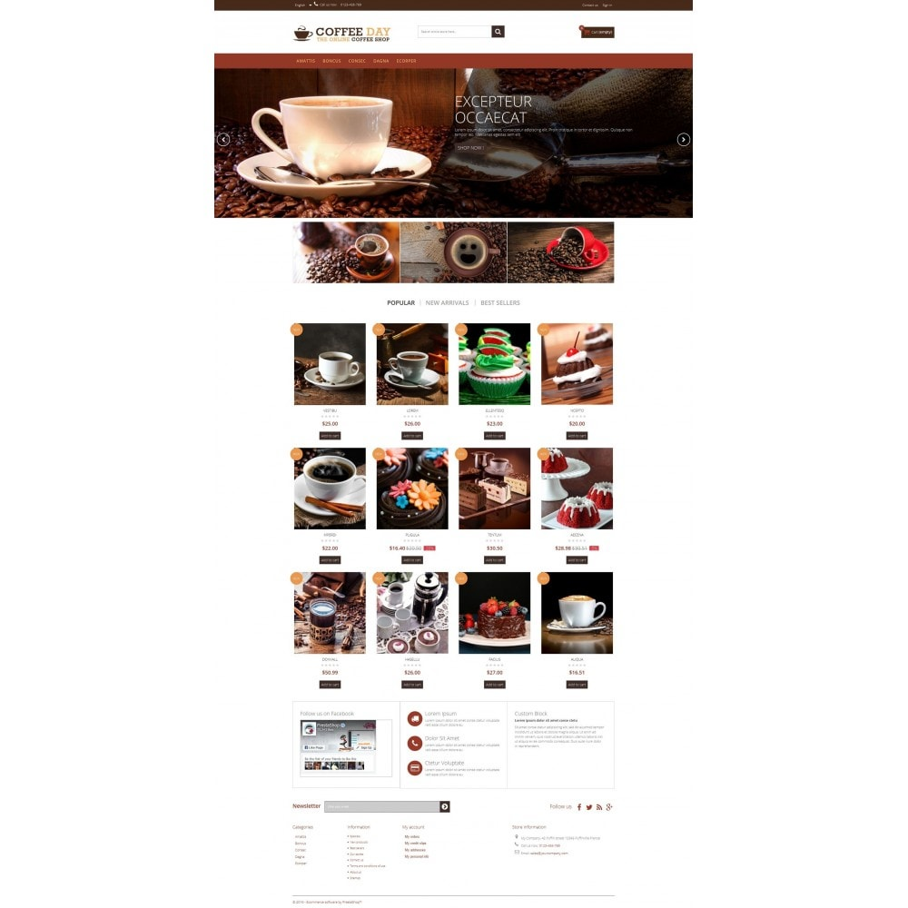 theme - Boissons & Tabac - Coffee & Cake Multipurpose HTML5 - 2