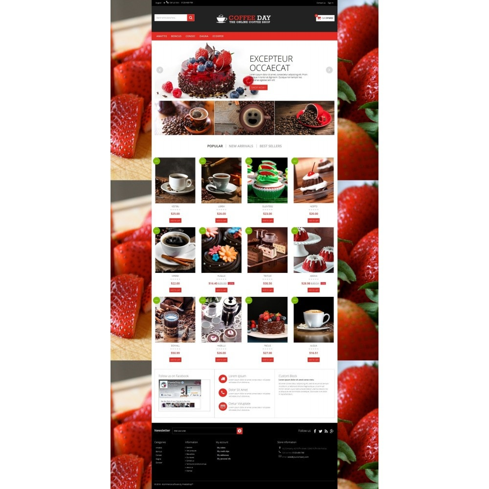 theme - Boissons & Tabac - Coffee & Cake Multipurpose HTML5 - 6