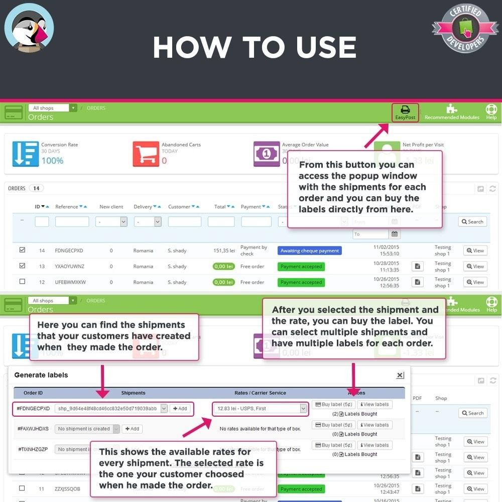 module - Preparación y Envíos - Easy Post Pro (DHL, GLS, DPD, Colissimo, RoyalMail etc) - 5