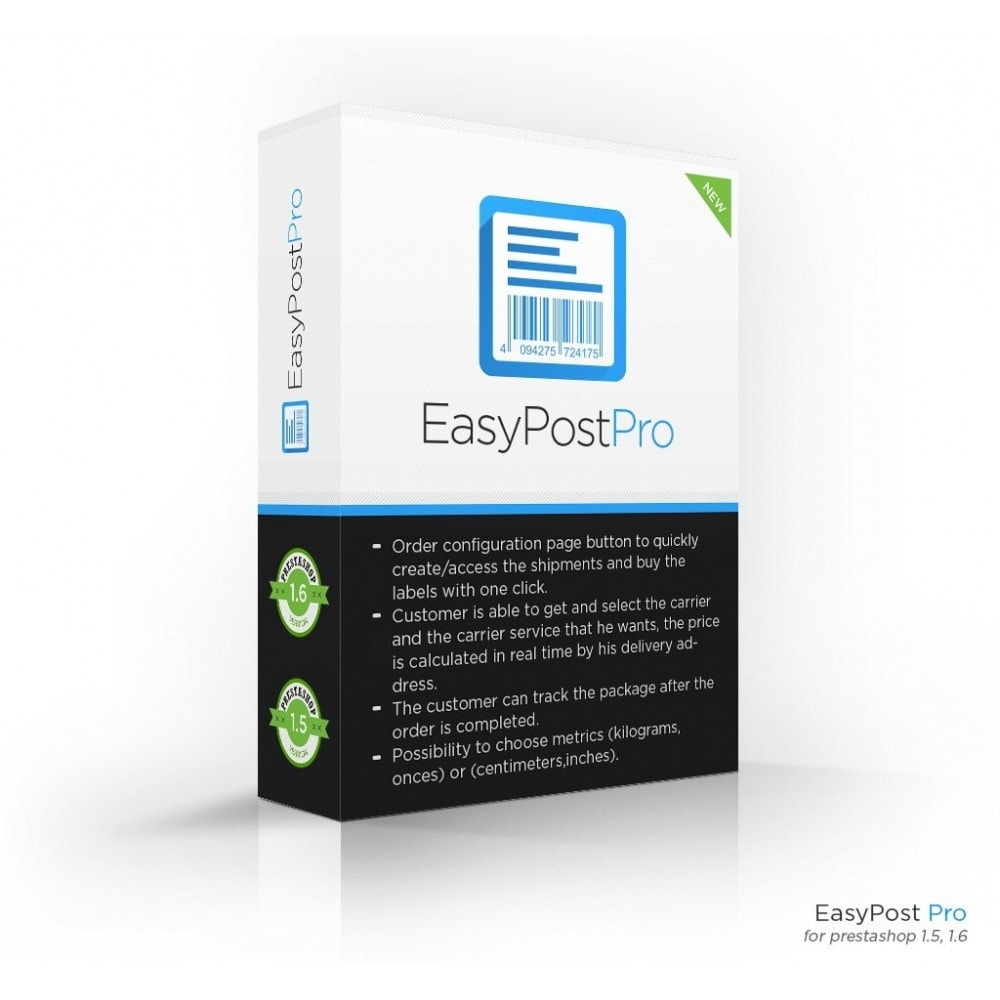 module - Kommissionierung & Versand - Easy Post Pro (DHL, GLS, DPD, Colissimo, RoyalMail etc) - 1