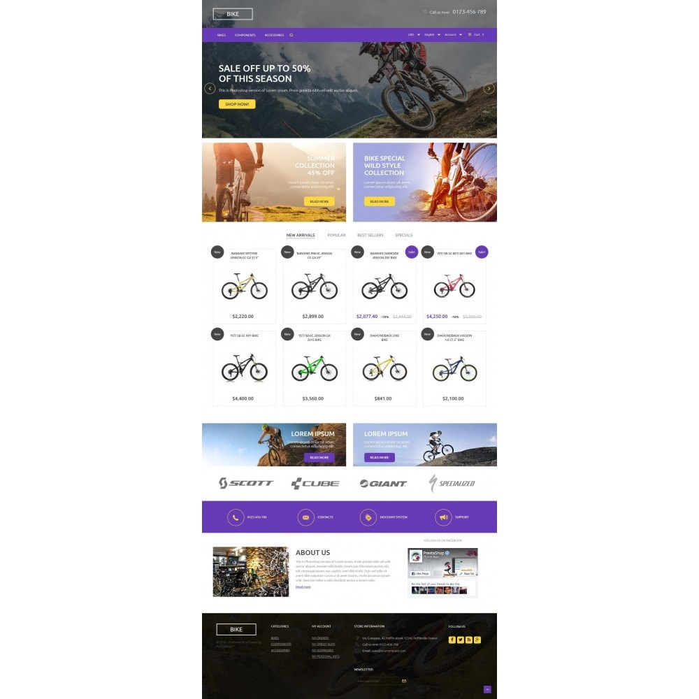 theme - Sports, Activities & Travel - Bike Store 1.6 Responsive - 2