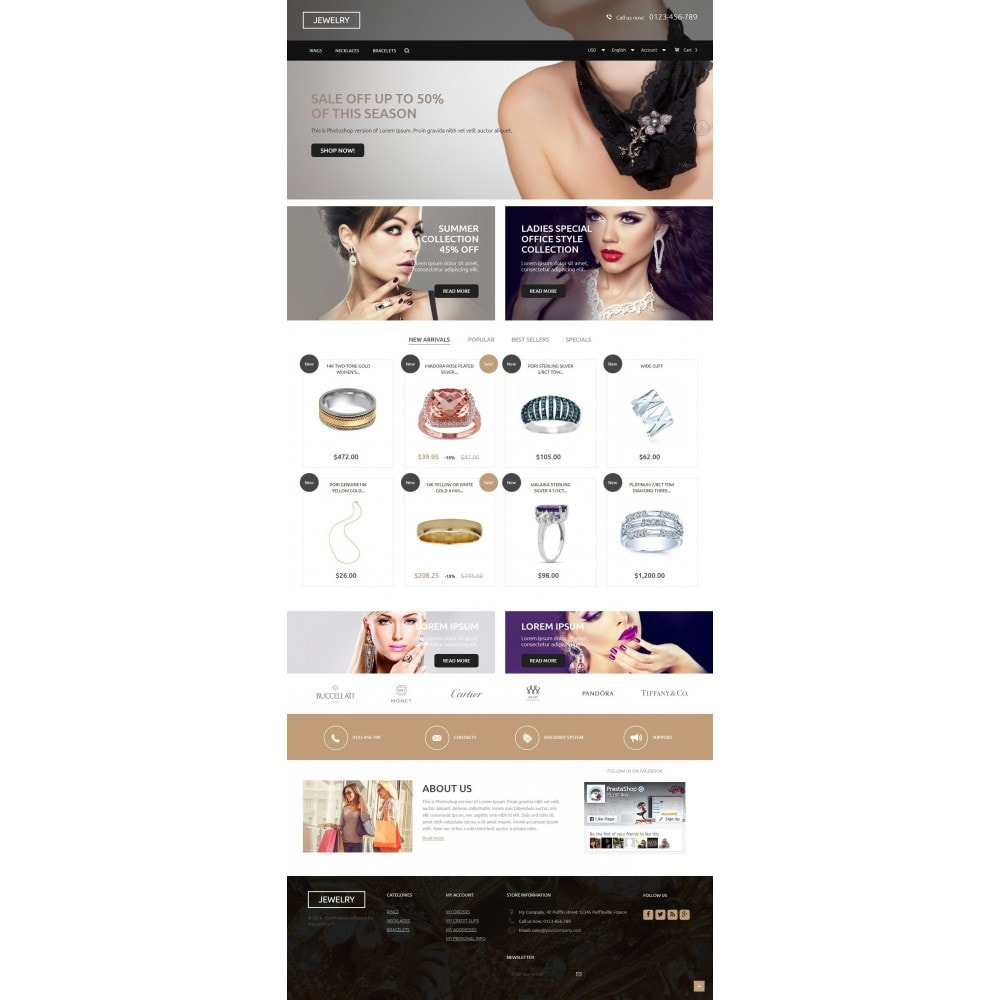 theme - Jewelry & Accessories - Jewelry Store 1.6 Responsive - 2