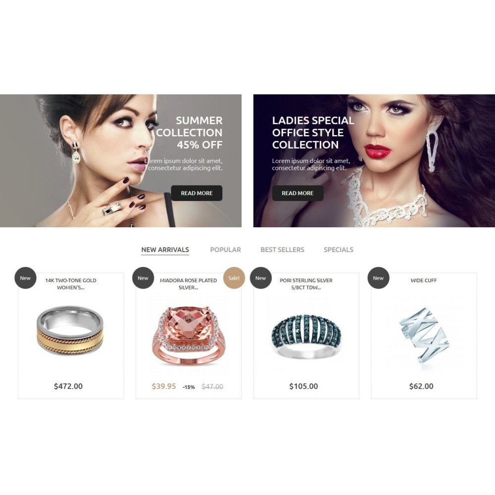 theme - Jewelry & Accessories - Jewelry Store 1.6 Responsive - 4