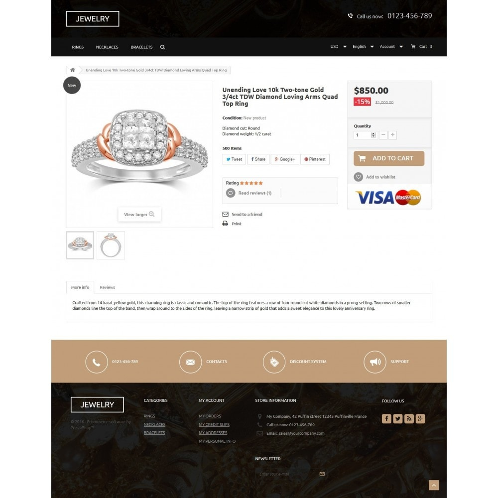 theme - Jewelry & Accessories - Jewelry Store 1.6 Responsive - 7