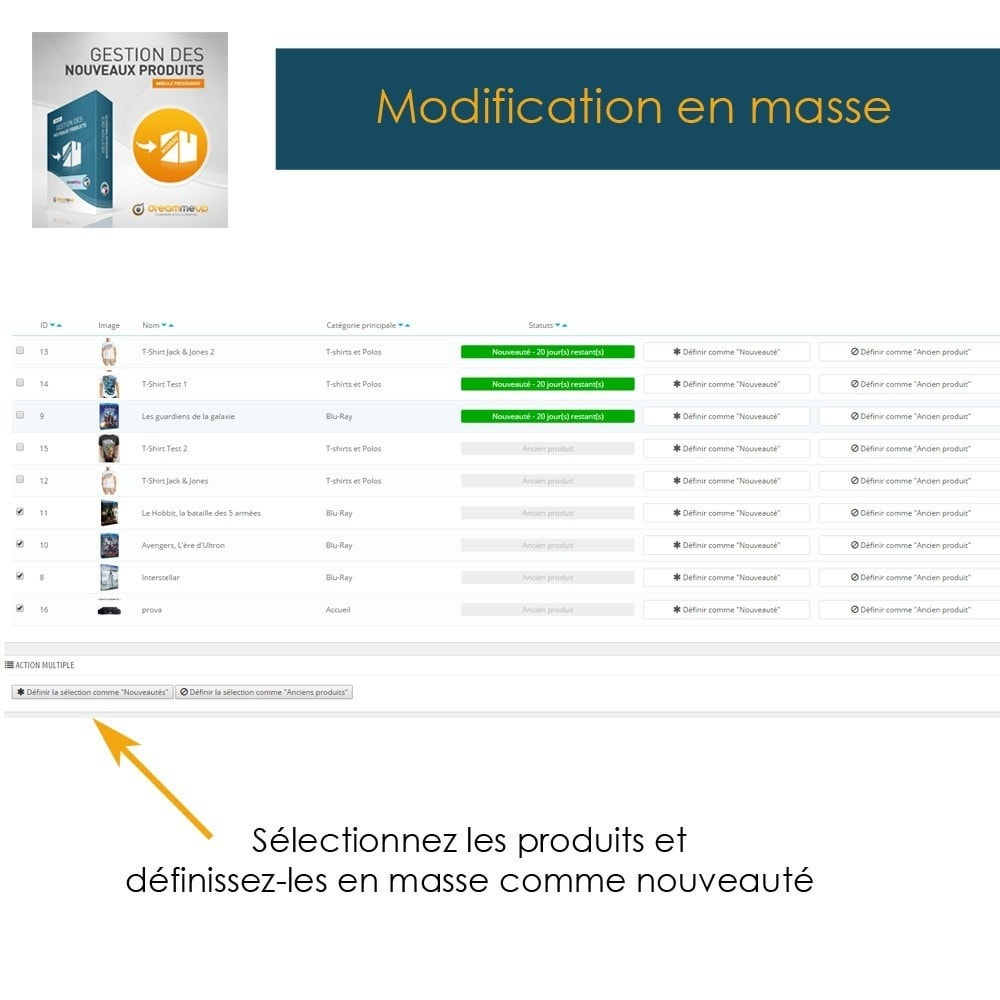 module - Edition rapide & Edition de masse - DMU Gestion des nouveaux produits - 3