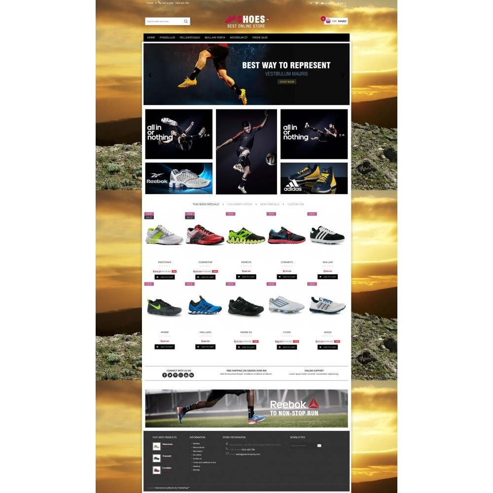 Shoes shop Multipurpose HTML5