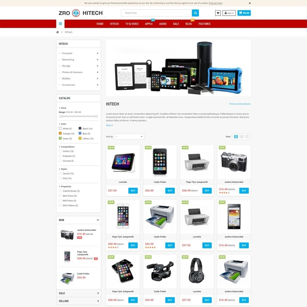 Electronic shop online