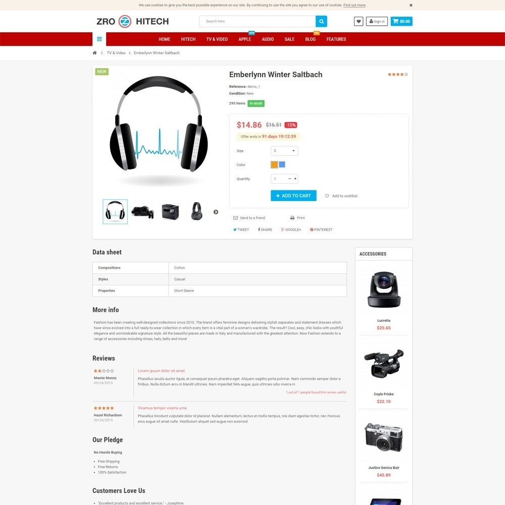 theme - Electronique & High Tech - Zro23 - Hitech - Electronics Online Store - 6