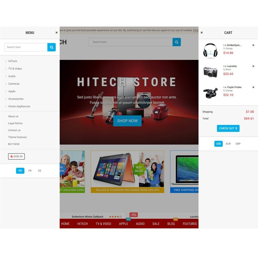 theme - Electronique & High Tech - Zro23 - Hitech - Electronics Online Store - 8