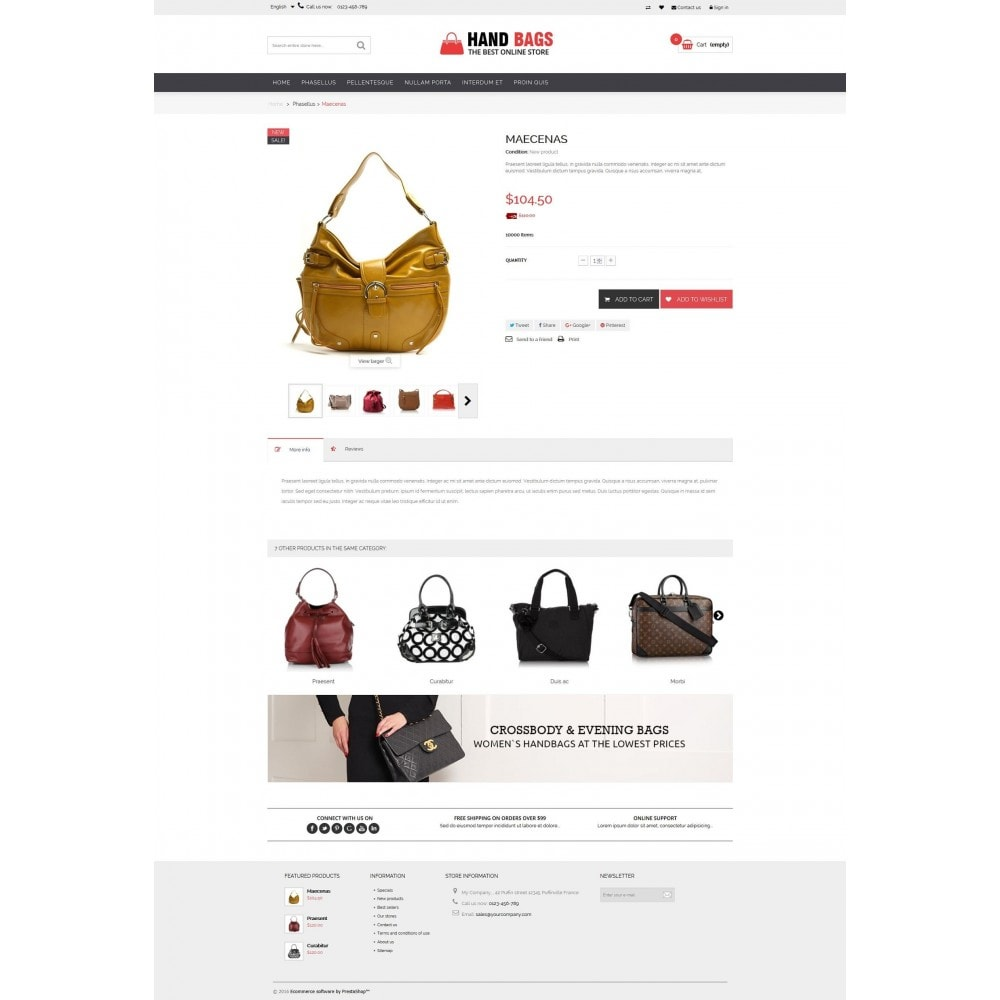 theme - Jewelry & Accessories - Hand Bags Multipurpose HTML5 - 5