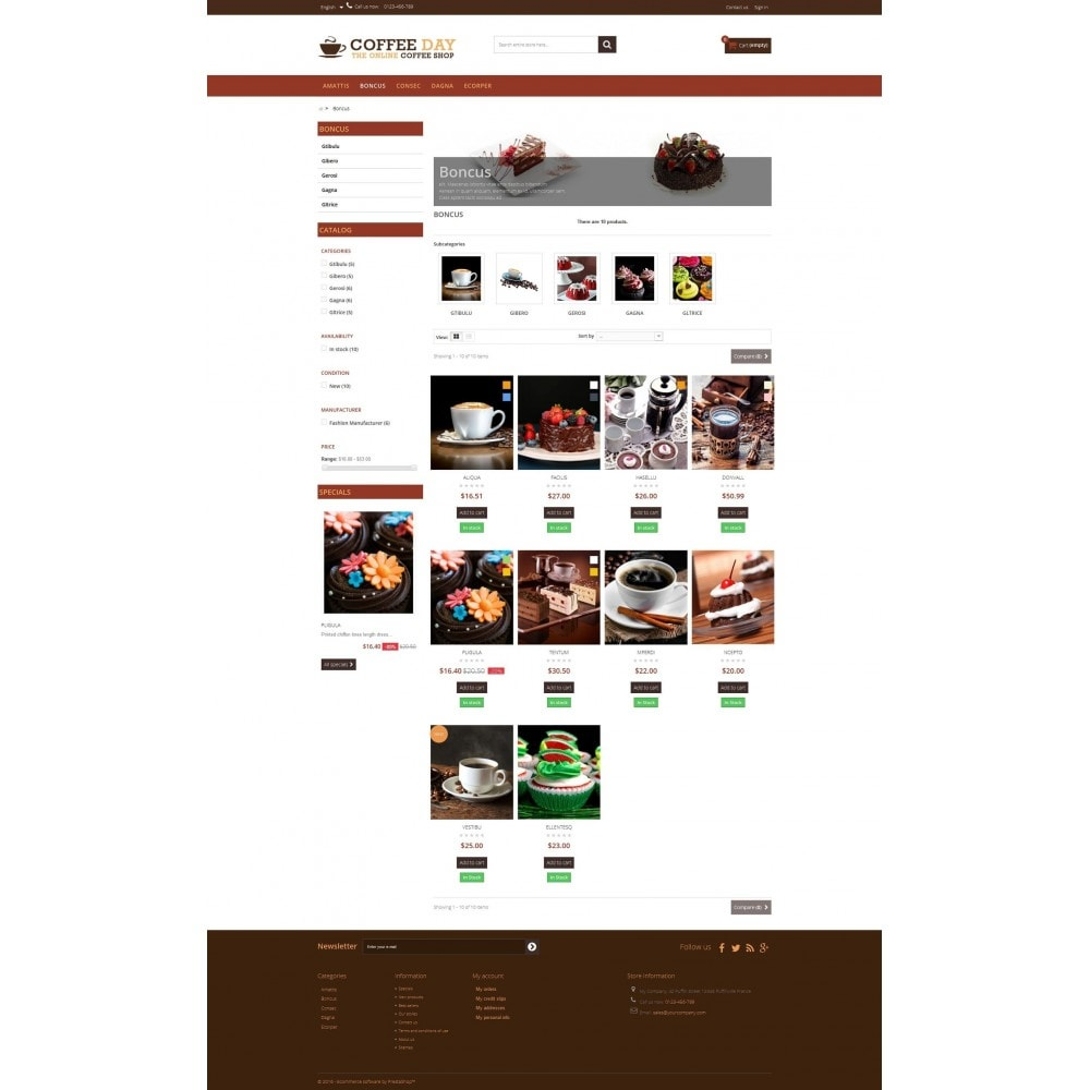 Coffee & Cake Multipurpose HTML5